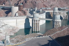 Hoover dam. Hoover (boulder) damnd nevada - hydro electric power gneration Royalty Free Stock Image