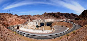 Hoover Dam. Panorama view from above Hoover Dam Royalty Free Stock Image