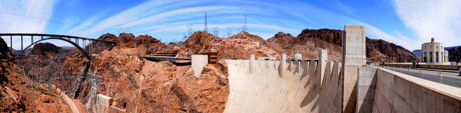 Hoover Dam. Panorama view of Hoover Dam Stock Photo