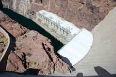 Hoover Dam. White cement Hoover Dam in a sunny day Stock Images