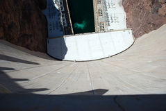 Hoover Dam. White cement Hoover Dam in a sunny day Royalty Free Stock Photography