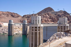 Hoover dam. North side view of the hoover dam in Nevada/ Arizona, USA Stock Photography