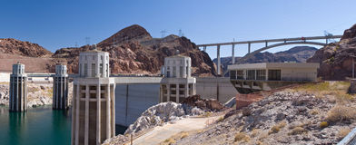 Hoover dam. North side view of the hoover dam in Nevada/ Arizona, USA Royalty Free Stock Images