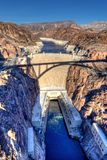 Hoover Dam. The Hoover Dam as viewed from the bypass (Mike O'Callaghan-Pat Tillman Memorial Bridge) near Boulder City, Nevada Stock Images
