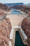 Hoover Dam. Looking down on Hoover Dam, near Boulder City, Nevada Stock Photo