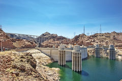 Hoover dam. Photo taken in bright sun light during day Royalty Free Stock Image