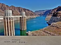 Hoover Dam. Water towers at Hoover Dam, Nevada / Arizona Stock Images
