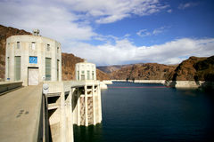 Hoover Dam. Water intake towers at Hoover Dam, Nevada / Arizona border stock images