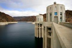 Hoover Dam. Water intake towers at Hoover Dam, Nevada / Arizona border royalty free stock photography