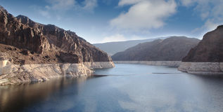 Hoover Dam. Colorado river at Hoover Dam at border of Arizona and Nevada royalty free stock image