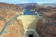 Hoover Dam. Picture of Hoover Dam made from Pat Tillman Memorial Bridge Stock Photo