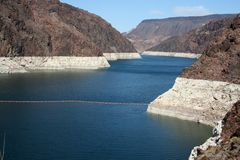 Hoover dam. On the border between the arizona and nevada Royalty Free Stock Images