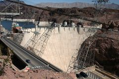 Hoover dam. On the border between the arizona and nevada Stock Photos