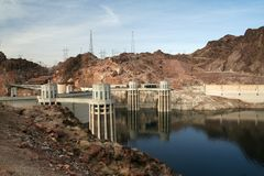 Hoover Dam. In Lake Mead in Arizona and Nevada border Stock Photography