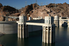 Hoover Dam. On a sunny day stock image