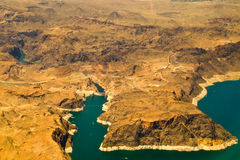 Aerial view of Hoover Dam Stock Photography