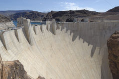 The Hoover Dam stock image
