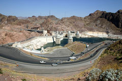 Hoover Dam. View of the Hoover Dam complex from Arizona side Royalty Free Stock Image