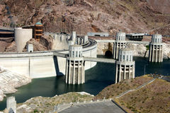 Hoover Dam. Viewed from observation area on U.S. 93 in Arizona Stock Photo