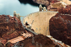 Hoover dam from above Royalty Free Stock Photography