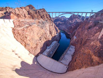 Hoover Dam across the Border of Nevada and Arizona, USA Stock Images