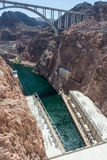 Hoover Dam also known as Boulder Dam, in the Black Canyon of the Colorado River, on the border between Nevada and Arizona,  USA Royalty Free Stock Photo
