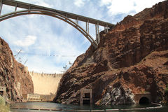 Hoover Dam And Bypass Royalty Free Stock Photos