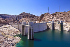 Hoover Dam And Water Intake Towers Royalty Free Stock Images