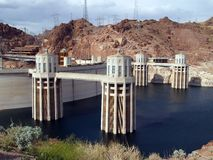 The Hoover Dam in Arizona stock photos