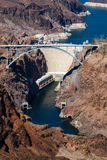 HOOVER DAM, ARIZONA/NEVADA - AUGUST 1 : View of the Hoover dam a Royalty Free Stock Photo