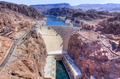 Hoover Dam. On Arizona and Nevada border Stock Images