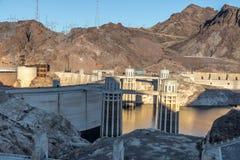 Hoover Dam at Arizona - Nevada Border, USA Stock Photography