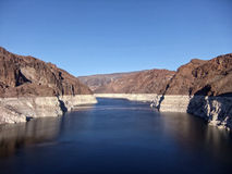 Hoover Dam Arizona Nevada Lake Mead. View from the Bridge at Hoover Dam Stock Image
