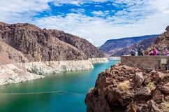 Lake Mead from the Hoover Dam. stock photos