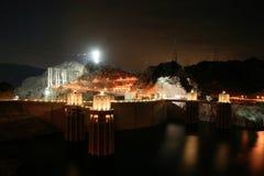 Hoover Dam At Night Stock Photos