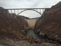 Hoover Dam. Beautiful landscape of the Hoover Dam Nature Royalty Free Stock Photo