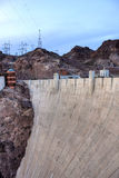 Hoover Dam. In the Black Canyon of the Colorado River, on the border between the U.S. states of Nevada and Arizona Stock Photo