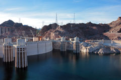 Hoover Dam. In the Black Canyon of the Colorado River, on the border between the U.S. states of Nevada and Arizona Stock Photography