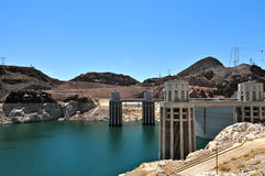 Hoover Dam in the Black Canyon of the Colorado River, USA Stock Photography