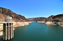 Hoover Dam in the Black Canyon of the Colorado River, USA Royalty Free Stock Photography