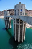 Hoover Dam in the Black Canyon of the Colorado River, USA Royalty Free Stock Photos