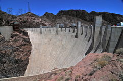 Hoover Dam in the Black Canyon of the Colorado River, USA Royalty Free Stock Photo