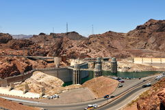 Hoover Dam in the Black Canyon of the Colorado River, USA Royalty Free Stock Image