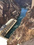 Hoover Dam. Blue Water Scene Stock Image