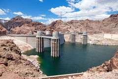 Hoover Dam on the border of Arizona and Nevada Stock Image