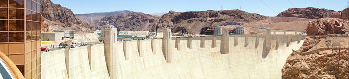 Hoover Dam. Border between the states of Nevada and Arizona, USA Royalty Free Stock Image