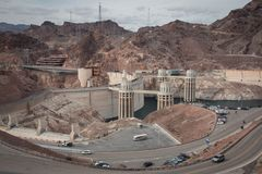 Hoover dam, boulder dam between nevada and arizona Royalty Free Stock Photography