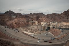 Hoover dam, boulder dam between nevada and arizona Royalty Free Stock Photos
