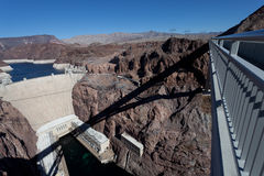 The Hoover Dam from the Bridge Royalty Free Stock Photo