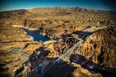 Hoover Dam and Bridge Royalty Free Stock Photos